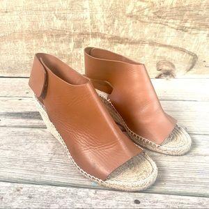 Celine espadrilles brown leather size 9